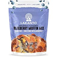 Lakanto Sugar-Free Blueberry Muffin Mix, Low-Carb, Gluten-Free Baking with Monkfruit Sweetener