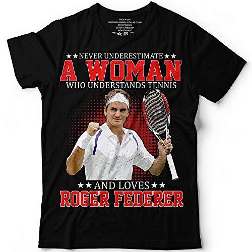 (Never Underestimate A Woman Who Understands Tennis And Loves Roger Big-Fans Legends Federer T-shirt Customized Handmade/Hoodie/Sweater/Long Sleeve/Tank Top/Premium T-shirt)