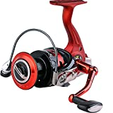 Sougayilang Fishing Reel Spinning Reels with CNC Machined Aluminum Spool 13+1 BB Light Weight Ultra Smooth Powerful for Boat Rock Freshwater Saltwater Fishing (Red, 13+1BB 2000 Series)
