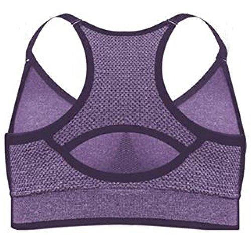 Puma Womens Seamless Sports Bra With Removable Cups Purple