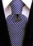 Neckties By Scott Allan - Navy Blue Yellow Diamond Mens Tie