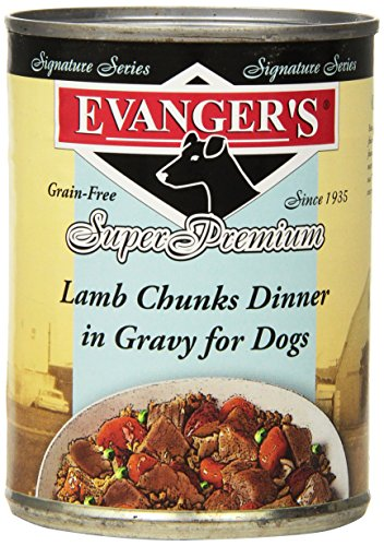 Evangers 776297 12-Pack Sig Series Grain Free Slow Cooked Lamb Stew for Dogs, 12-Ounce