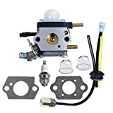 Pecine C1U-K54A Carburetor for 2 Cycle Mantis Tiller 7222 7222E 7222M 7225 7230 7234 7240 7920 7924 Cultivator Echo with Repower Kit Air Fuel Filter Gasket