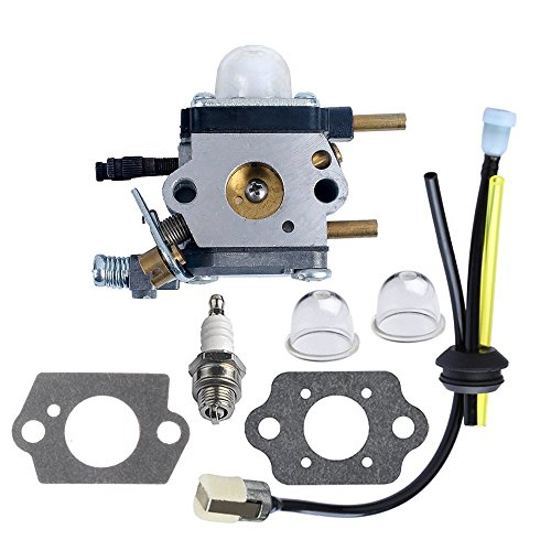 Pecine C1U-K54A Carburetor for 2 Cycle Mantis Tiller 7222 7222E 7222M 7225 7230 7234 7240 7920 7924 Cultivator Echo with Repower Kit Air Fuel Filter Gasket by Pecine