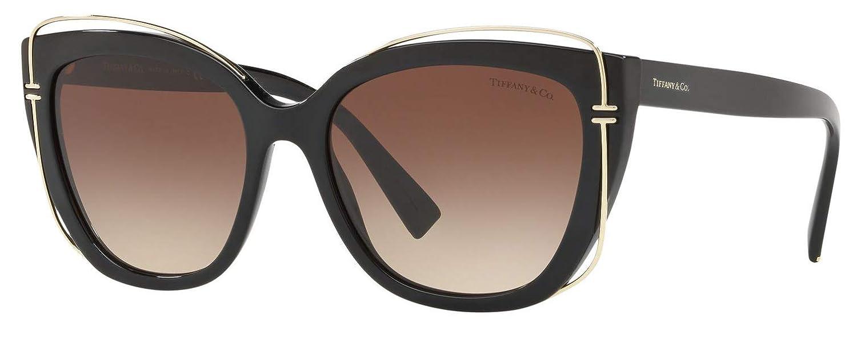 b418f58051a10 Amazon.com  Tiffany   Co. TF-4148 Cat-Eye Sunglasses for Women Brown  Gradient 80013B  Clothing