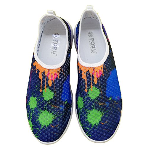 Pour U Conceptions Graffiti Coloré Imprimer Maille Légère Marche Chaussures De Course Multi 3