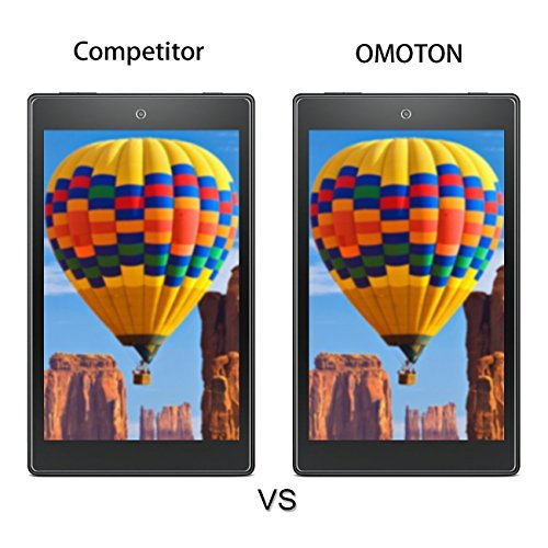 [2-Pack] OMOTON Screen Protector for All-New Fire 7 / Fire 7 Kids Edition Tablet (9th/7th Gen, 2019/2017 Release) - Tempered Glass/High Definition / 9H Hardness