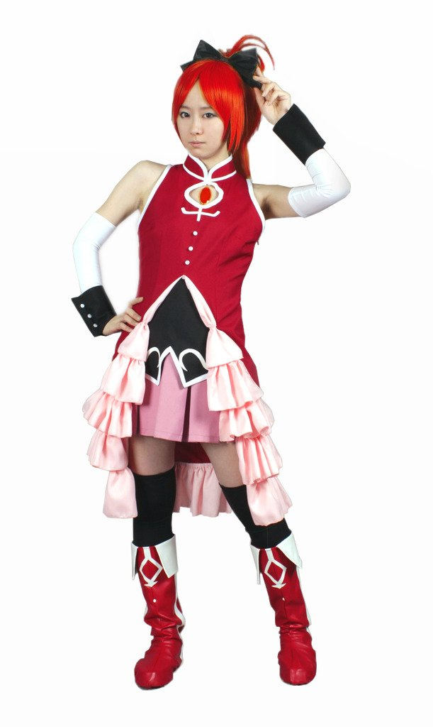 MILICA BOOKS Puella Magi Madoka Magica Sakura Kyouko Cosplay Costume (Medium) Red