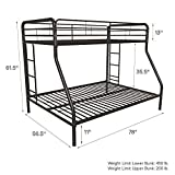 DHP Twin-Over-Full Bunk Bed with Metal Frame and