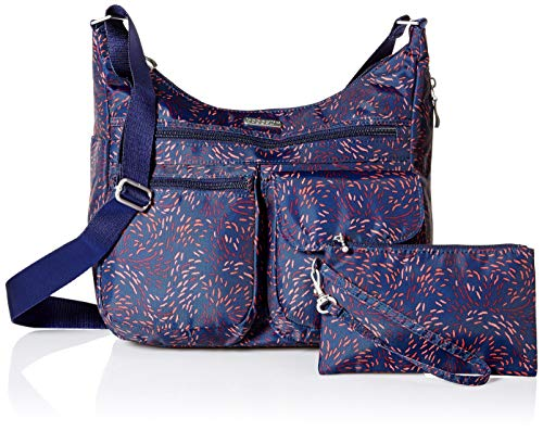 Spacious Lightweight Crossbody Wristlet Purse with Baggallini Water Everywhere Firework Multi Print Pocketed RFID Bag Resistant Travel ERvwqY