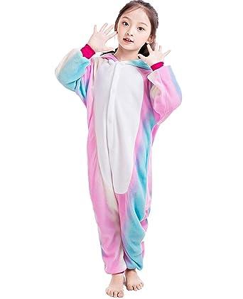54eadfe9c5d0 Amazon.com  NEWCOSPLAY Homewear Childrens Unicorn Pajamas Sleeping ...
