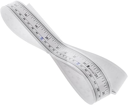 Self Adhesive Measure Tape Vinyl Silver Ruler Sewing Machine Sticker 90cm Hot