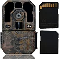 Eyeleaf 1080P Waterproof Hunting Game Trail Camera With Long Distance Night Vision for Tracking Animals and as Security Camera indoor or Outdoor