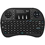 Rii i8+ (layout español, retroiluminado) Mini Retroiluminado inalámbrica teclado ergonómico con ratón tipo touchpad incorporado. Compatible con SmartTV, Mini PC, Android, PS3, Xbox, HTPC, PC, XBMC, IPTV, MacOS, Linux y Windows XP/7/8/10