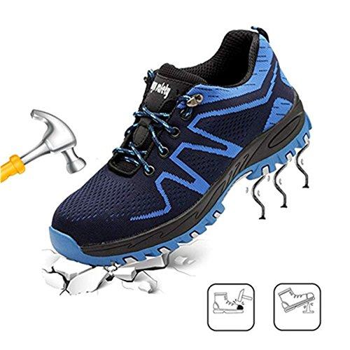 Lavoro Scarpe Blu da Donna Lavoro s3 Ulogu in Scarpe Scarpe con Comodissime Antinfortunistiche da Scarpe Punta Uomo Acciaio zBTxxwnP