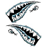 Florencinid Shark Mouth Tooth Teeth Graphics Car Door or Kayak Sticker