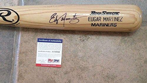 Martinez Autographed Baseball Bat (EDGAR MARTINEZ SEATTLE MARINERS - MLB BASEBALL GAME BAT - AUTOGRAPHED - PSA/DNA)