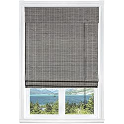 "Calyx Interiors Privacy Grey Wash Bamboo, 29""W X 54""H"