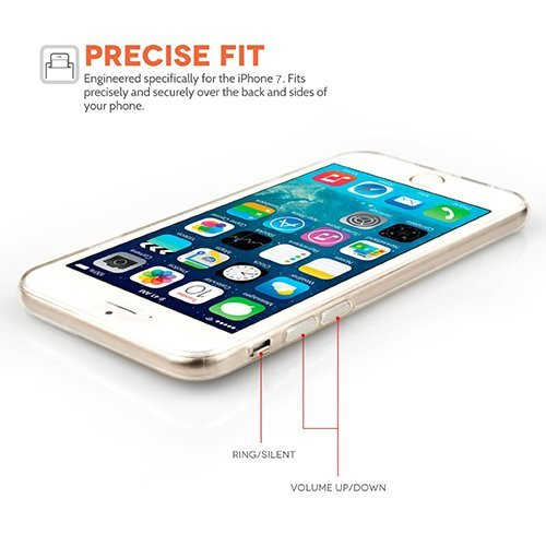 Funda iPhone 7 Carcasa Silicona Gel Mate - Wouier® Case Ultra Delgado TPU Goma Flexible Transparente UltraSlim Case Cover Skin para iPhone 7 A