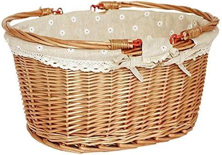 Rich overnight Ankunft Rural Style Willow Rattan Woven Hand Basket Fruit Flower Geschenkkorb Für Home Picknick,Rund