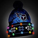 Tennessee Titans Big Logo Light Up Printed Beanie