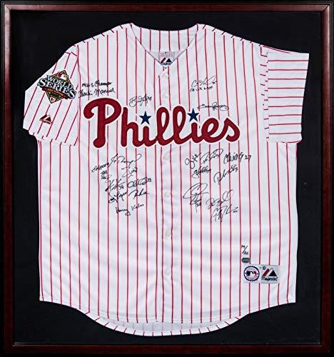 Beautiful 2008 Philadelphia Phillies World Series Champs Team Signed Jersey MLB - Autographed MLB Jerseys
