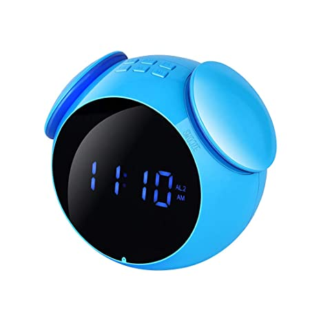 Amazon.com: FIged Mirror Digital Alarm Clock Portable ...