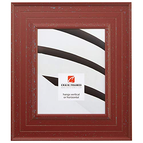 Cheap Craig Frames 81378650 14 by 18-Inch Picture Frame, Smooth Paint Finish, 3-Inch Wide, Weathered Red, Acrylic Facing, Foamcore Backing