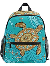 Beach Ocean Sea Animal Turtle Kids Backpack Pre-School Bag for Kindergarten Toddler Boy Girls