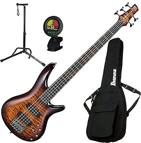 Ibanez SR405EQM SR 5-String Dragon Eye Burst Electric Bass Guitar with Gig Bag, Stand, and Tuner (Bass Gig Bag Ibanez)