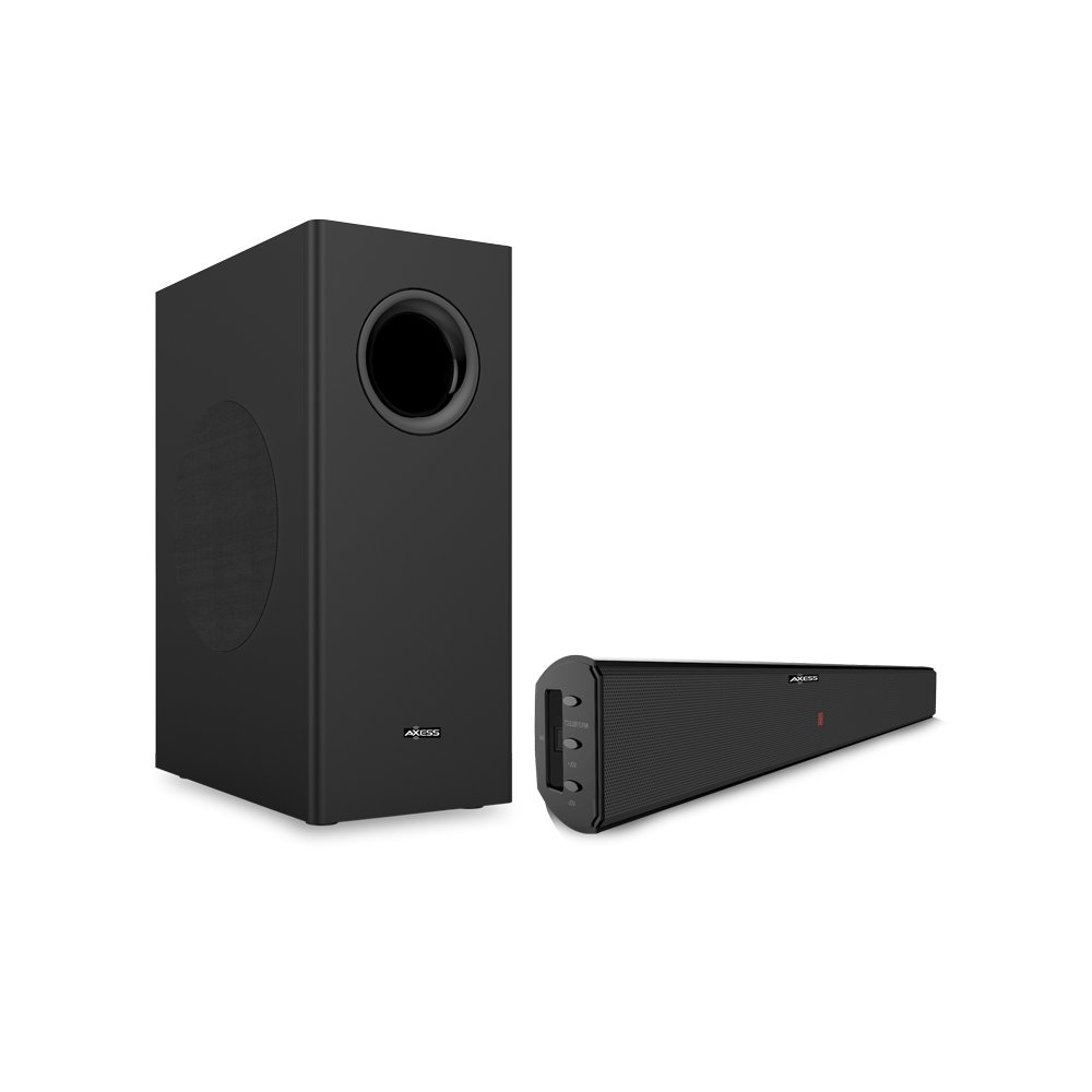Axess Sbbt1211 21 Home Theater Sound Bar System With Difference Between Series And Parallel Wiring Subwoofers 65 Wired Subwoofer In Black Electronics