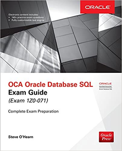 .com: oca oracle database sql exam guide (exam 1z0-071 ...