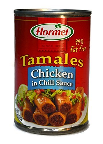 Hormel Chicken Tamales in Chili Sauce, 15 oz. (Pack of 6)