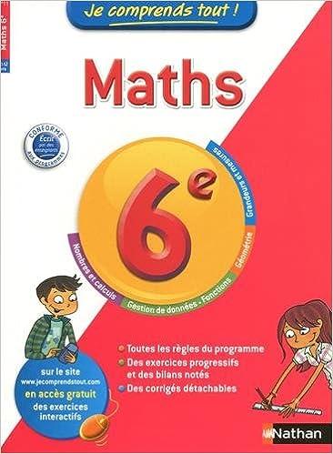 Livre gratuits Je comprends tout ! Maths 6 e epub pdf