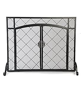 Amazon Com Celtic Knot Large Fireplace Screen With Hinged