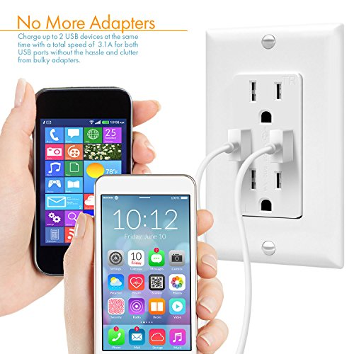 Buy wall outlet plug with usb