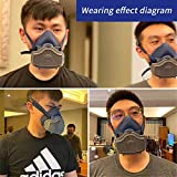 Half Facepiece Reusable Respirator with Replaceable and 6Pcs Reusable Filter Protection Cotton,use for Dust, Paint, Cleaning,medium