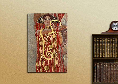 Hygeia (Detail from Medicine) by Gustav Klimt Print Famous Oil Painting Reproduction