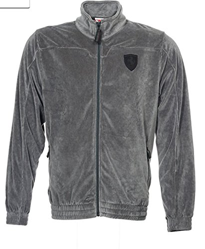 Chaqueta Puma Lifestyle Ferrari Velor Men`s (XX-Large, Dark ...
