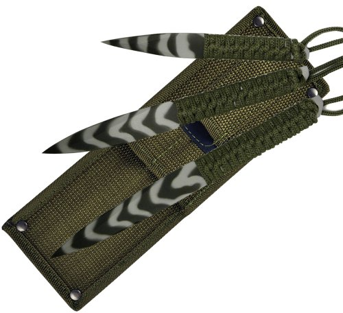 Fury Sea Camo 3-in-1 Throwers (9-Inch, 8-Inch, 6-Inch with Olive Drab and Tactical Nylon -