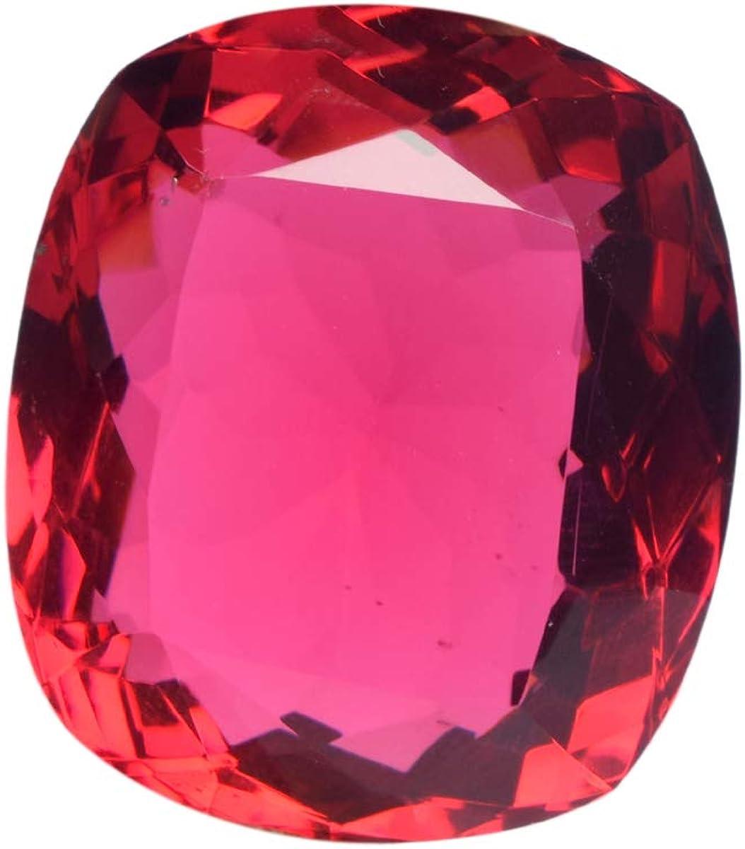 Gemhub Rosa Turmalina 80.00 CT Turmalina Brasileña Facetas Cojín Rosa Turmalina Piedra Preciosa Suelta