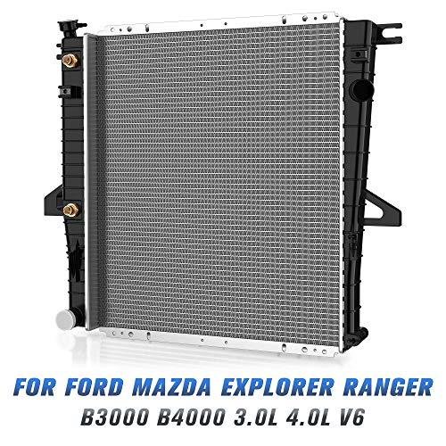 Complete Radiator for Ford Mazda Explorer Ranger B3000 B4000 3.0L 4.0L V6