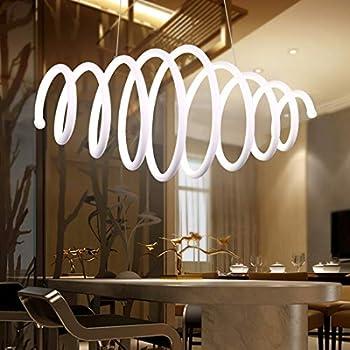 Modern Chandelier Retractable Spiral Pendant Light