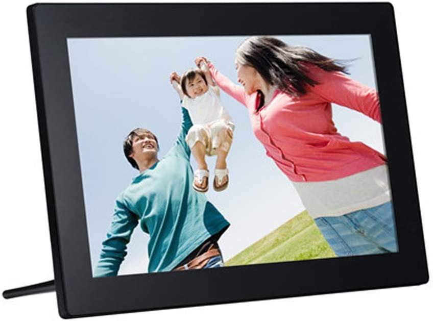 12 Inch Smart Digital Picture Frame with USB and SD Card Slots and Remote Control RAPLANC Digital Photo Frame HD HDMI,White