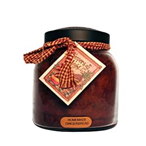 A Cheerful Giver Homemade Gingerbread Papa Jar Candle, 34-Ounce