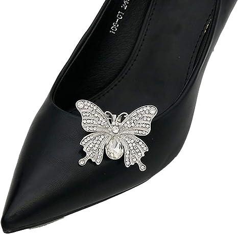 Women/'s Crystal Rhinestone Metal Shoes Clips Bridal Shoe Charms Decor  Bg
