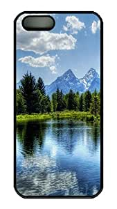 Cassandra Craine's Shop Cheap Rugged iPhone 5S Case,Forest Lake Polycarbonate PC Plastic Hard Case Cover for Apple iPhone 5S/5 Black 9745750M39989419