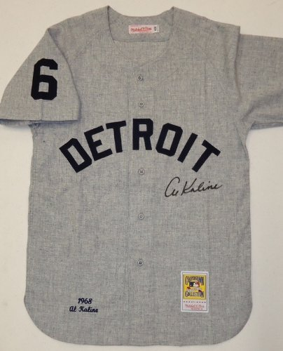 Al-Kaline-Autographed-Detroit-Tigers-1968-Road-Mitchell-Ness-Jersey