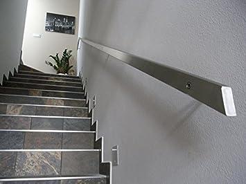 Pasamanos rectangular de acero inoxidable, 40 x 20 mm, gris: Amazon.es: Bricolaje y herramientas
