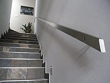 Pasamanos inoxidable rectangular, 40 x 20 mm, gris 40x 20mm INOXLM